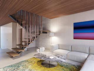 Apartment P1 destilat Design Studio GmbH Moderne Wohnzimmer