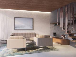Apartment P2 destilat Design Studio GmbH Moderne Wohnzimmer