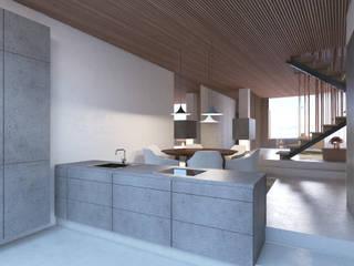 Apartment P2 destilat Design Studio GmbH Moderne Küchen