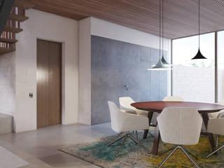 Apartment P2 destilat Design Studio GmbH Moderne Esszimmer