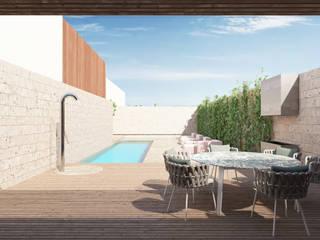 Apartment P2:  Terrasse von destilat Design Studio GmbH