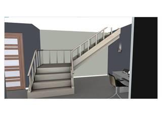Escalier / bureau: Salon de style  par L'Oeil DeCo