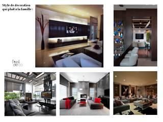 Ambiance: Salon de style  par L'Oeil DeCo