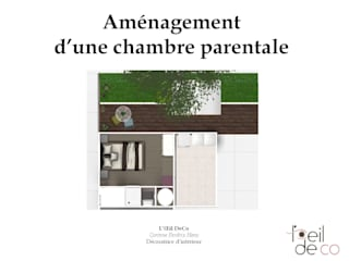 Plan 2D: Chambre de style  par L'Oeil DeCo