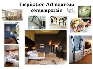 Inspiration Art Nouveau: Chambre de style  par L'Oeil DeCo