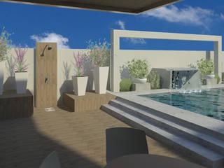 Tropical style pool by Arq Eduardo Galan, Arquitectura y paisajismo Tropical