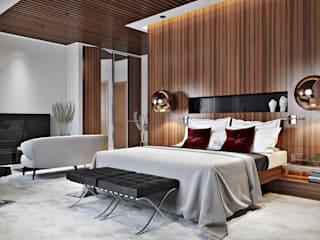 Style and clever zoning:  Bedroom by ArchiCGI