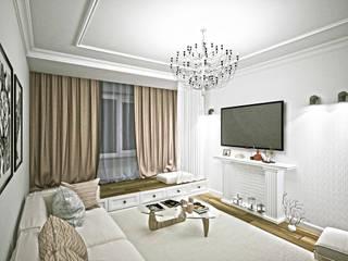 Дизайн интерьера квартиры: Гостиная в . Автор – Svetlana Zhulidova, Скандинавский