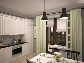 Дизайн интерьера квартиры: Кухни в . Автор – Svetlana Zhulidova, Скандинавский