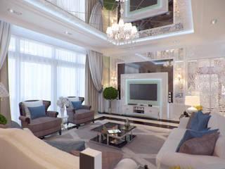 Студия интерьера Дениса Серова Classic style living room Multicolored