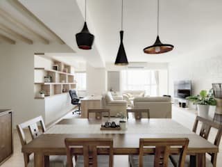 Scandinavian style dining room by 唯創空間設計公司 Scandinavian