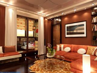 Студия интерьера Дениса Серова Asian style living room