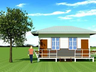 แบบบ้านพักตัวอย่าง โดย ช่างแอ็ด รับเหมาก่อสร้าง