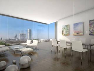 Penthaus Corboud:  Wohnzimmer von archequipe