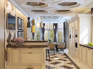ДизайнМастер Classic style kitchen Beige