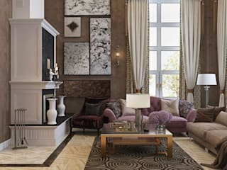 ДизайнМастер Classic style living room Brown