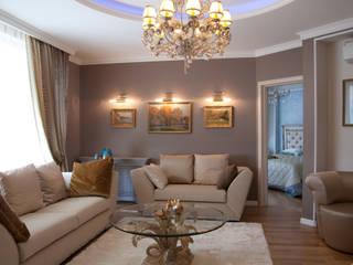 Квартира в классическом стиле.: Гостиная в . Автор – Дизайнер интерьера