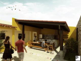 ESPAÇO GOURMET DIANA: Terraços  por Primo Piano Arquitetos