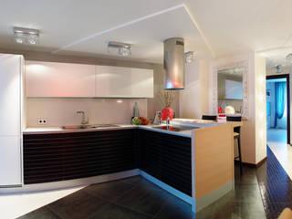 Квартира в двух уровнях для семьи.: Кухни в . Автор – Дизайнер интерьера