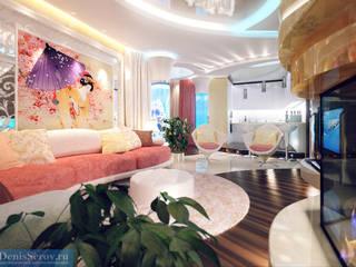 Студия интерьера Дениса Серова Eclectic style living room