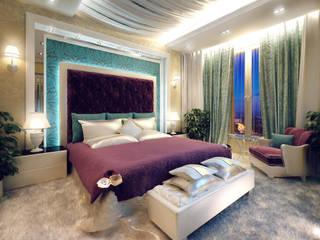 Студия интерьера Дениса Серова Eclectic style bedroom
