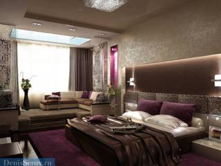 Студия интерьера Дениса Серова Minimalist bedroom
