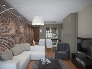 Residential French Lane:  Living room by HEID Interior Design
