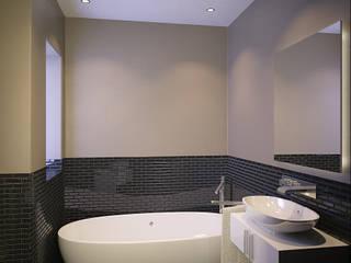 Residential French Lane:  Bathroom by HEID Interior Design