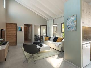 Residential Development:  Living room by HEID Interior Design