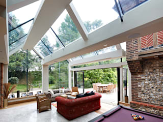 South Coast Glass Extension Modern living room by Trombe Ltd Modern
