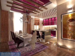 Студия интерьера Дениса Серова Eclectic style dining room