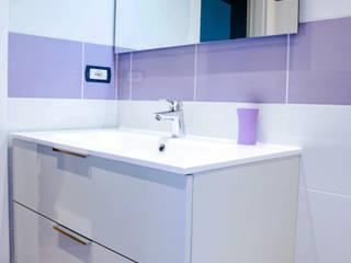 Luca Bucciantini Architettura d' interni Minimalist bathroom Purple/Violet