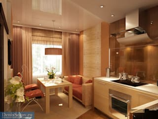 Студия интерьера Дениса Серова Minimalist kitchen
