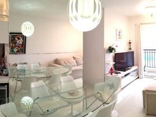 Estar de Apartamento 60m²: Salas de estar  por Ariândina Lima Arquitetura