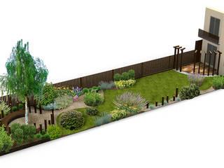 Ogród przy szeregowcu od Naturalnie - Studio Projektowe