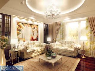 Студия интерьера Дениса Серова Country style living room