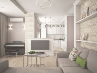 Minimalist living room by Ирина Рожкова - частный дизайнер интерьера Minimalist