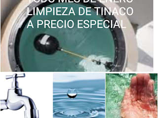 LIMPIEZA DE TINACO: Baños de estilo  por SERVICIOS CALO