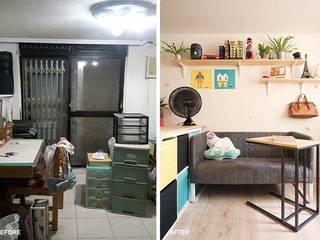 【地下天光】打造年輕夫妻的10坪溫暖寓所   Bright Basement:   by 一葉藍朵設計家飾所 A Lentil Design