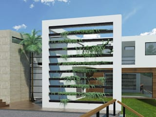 FACHADA PRINCIPAL: Casas de estilo  por Arquitectura Libre