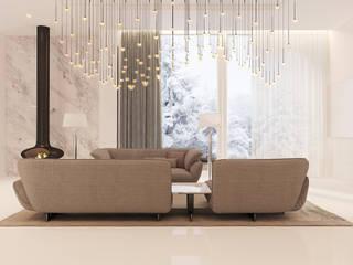 Simply white: Гостиная в . Автор – Filipp Kitsenko