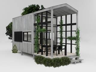 PRATIKIZ MIMARLIK/ ARCHITECTURE Maisons rurales Bois Gris