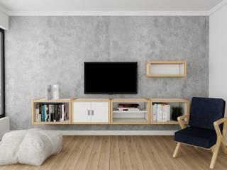 PRATIKIZ MIMARLIK/ ARCHITECTURE – Tv Ünitesi: modern tarz , Modern