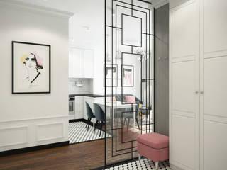 Mieszkanie na Żoliborzu Klasyczny korytarz, przedpokój i schody od Kamińska Stańczak Klasyczny