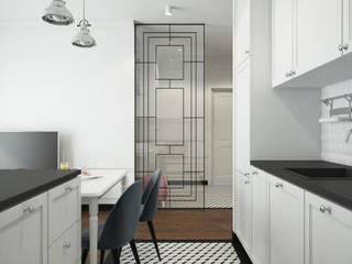 Mieszkanie na Żoliborzu Klasyczna kuchnia od Kamińska Stańczak Klasyczny