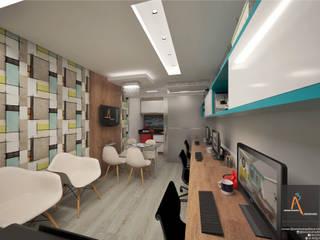 Kantor & Toko Modern Oleh Ao Cubo Arquitetura e Interiores Modern