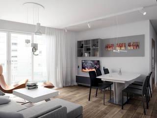 Wnętrza mieszkania w Warszawie: styl , w kategorii Salon zaprojektowany przez Ewa Prejs