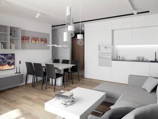 Wnętrza mieszkania w Warszawie: styl , w kategorii Kuchnia zaprojektowany przez Ewa Prejs