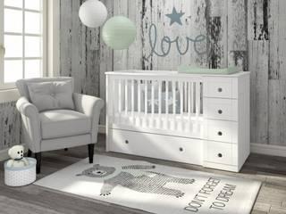 3 in 1 Cot bed homify Dormitorios de bebé Madera Blanco