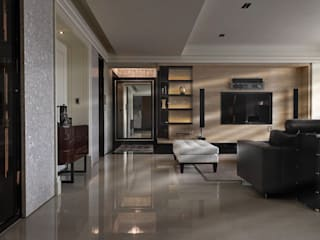 時尚精品宅 大荷室內裝修設計工程有限公司 现代客厅設計點子、靈感 & 圖片
